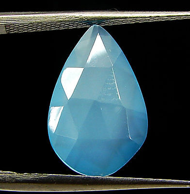 2.65 Ct Natural Blue Chalcedony Loose Faceted Gemstone Beautiful Stone - 10833