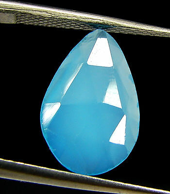 2.35 Ct Natural Blue Chalcedony Loose Faceted Gemstone Beautiful Stone - 10836