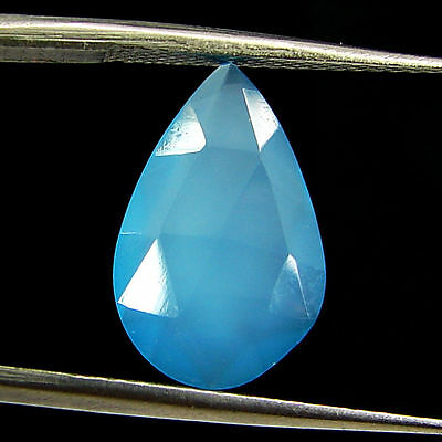 2.40 Ct Natural Blue Chalcedony Loose Faceted Gemstone Beautiful Stone - 10829