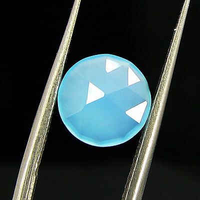 1.40 Ct Natural Blue Chalcedony Loose Faceted Gemstone Beautiful Stone - 10776