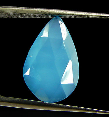 2.50 Ct Natural Blue Chalcedony Loose Faceted Gemstone Beautiful Stone - 10837