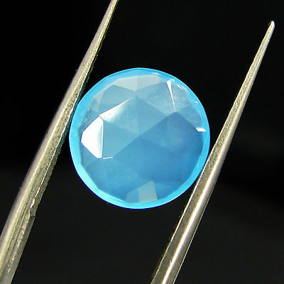 2.10 Ct Natural Blue Chalcedony Loose Faceted Gemstone Beautiful Stone - 10772