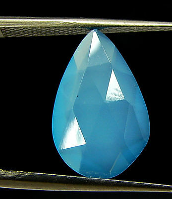 2.60 Ct Natural Blue Chalcedony Loose Faceted Gemstone Beautiful Stone - 10821