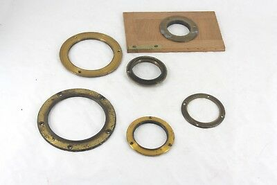 Taylor Hobson TTH brass lens mounting ring AND FIVE OTHERS      antique  tt&h