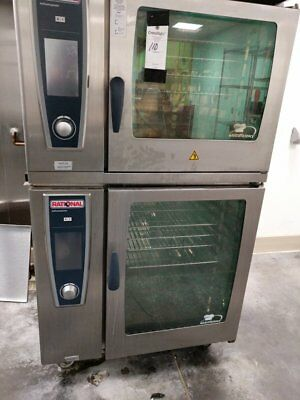 Rational SCCWE62/102 Double Electric Combi Oven with 5 Senses - 480v - Free Ship