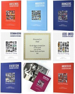 Personalised FOOTBALL TEAM Club A HISTORY in PICTURES Book Gift Idea Fathers Day