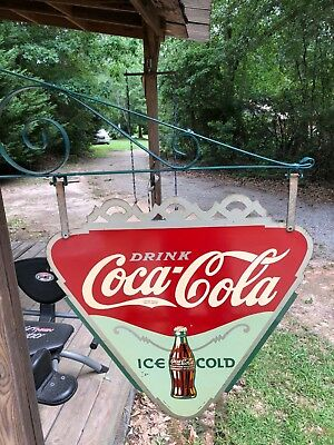 SUPER RARE Coca Cola enamel diamond sign,Kay dated 1937,excellence/with brackett