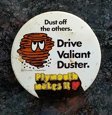Vintage Plymouth makes it Duster 340 promo pin Dust off the others 3 inches COOL