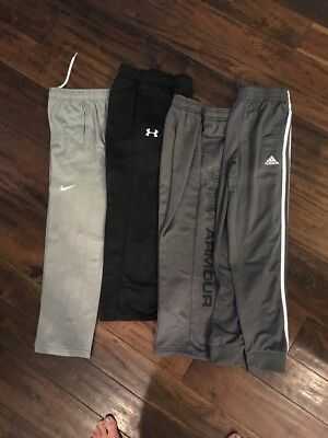 Lot of 4 Pair Boys Size Youth M 10 12 Nike, Under Armour and Adidas
