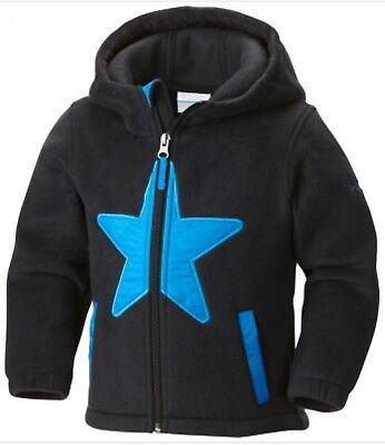 Toddler Columbia Fleece 3t Star Bright Black w/blue star