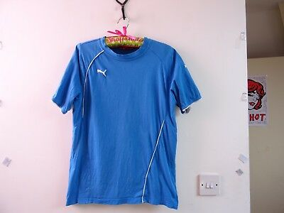 PUMA  blue unisex? cotton sporty branded crew neck T shirt  size S