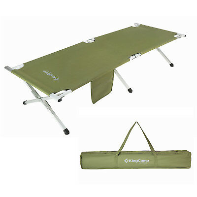 KingCamp Folding Camping Bed Military Portable 12lbs weight / 220lbs Capacity