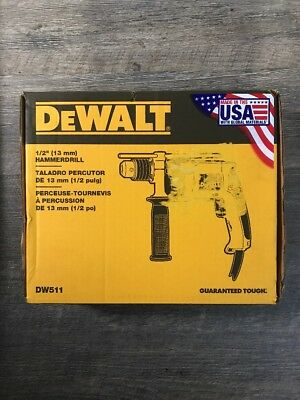 "DEWALT DW511 1/2"" 7.8 Amp VSR Variable Speed Reversing Corded Hammerdrill Drill"