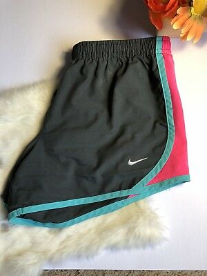 Girls 10-12 Size Medium Nike Dri Fit  Athletic Shorts  Pink Grey And Teal