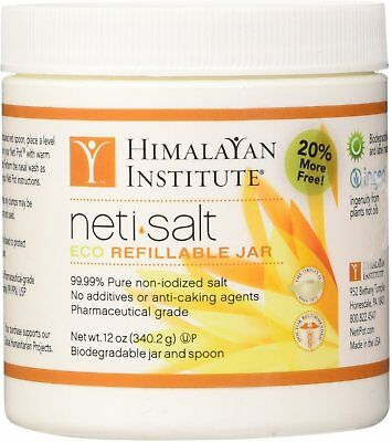 Neti Pot Salt, Himalayan Institute, 12 oz 2 pack