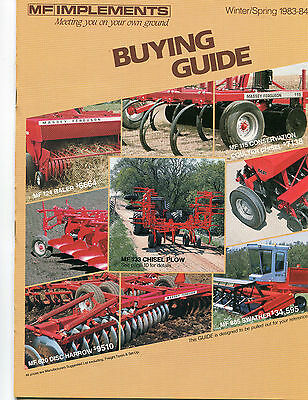 1983 1984 Massey Ferguson MF Tractor Implement 28 Page Buying Guide Brochure Ad