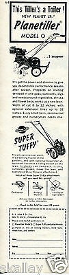 1959 Print Ad of SL Allen & Co Planet JR Planetiller Model O Super Tuffy Tiller