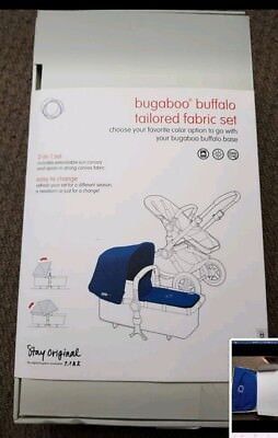 BNIB Genuine Royal Blue Bugaboo buffalo hood tailored fabric set