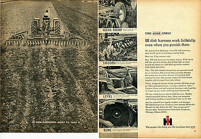 1965 International Harvester IH 470 Disk Harrow Farm Tractor Implement 2 Page Ad