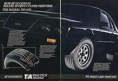 1984 BF Goodrich Radial T/A 60H on Ford Mustang GT 5.0 2 Page Print Ad
