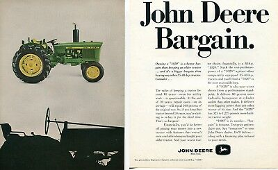 1968 4 Page Print Ad of John Deere 1020 Farm Tractor & 95 Combine
