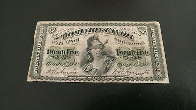 Old Dominion of Canada 25 Cent Note