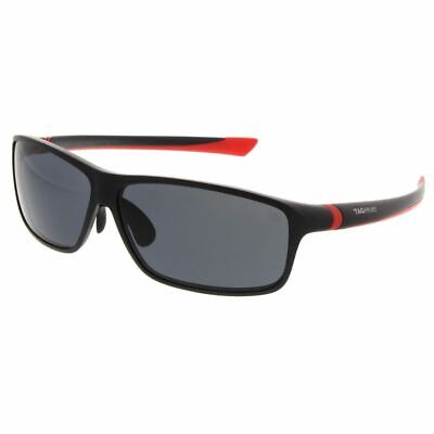TAG HEUER 27 Degree Urban Sunglasses 6024 102 Matte Black Red Frame ...