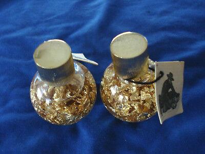 Two Vintage  Brazilian Gold Flake Vials With  Certification