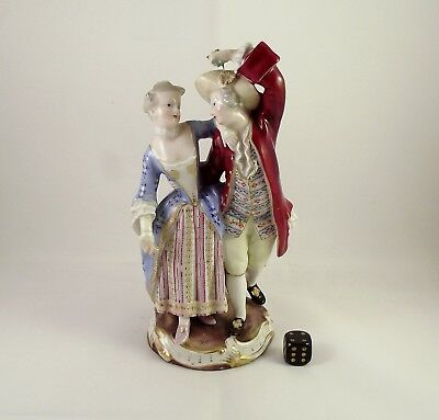 19thC Meissen Figurine Of A Courting Couple circa 1880