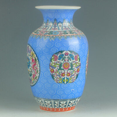 Chinese Porcelain Hand-Painted Flower Vase Mark As The Qianlong Period R1156