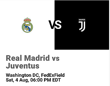 International Champions Cup: Real Madrid vs. Juventus (8/4/18)