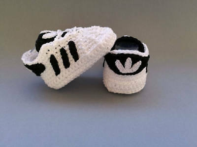 Baby crochet adidas shoe all sizes available from newborn upwards