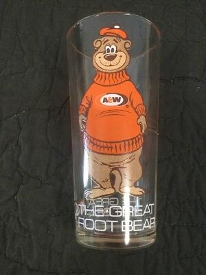 A & W Root Beer The Great Root BEAR Glass vintage original