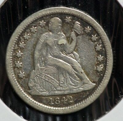 1842 Seated Liberty 10C Dime Coin