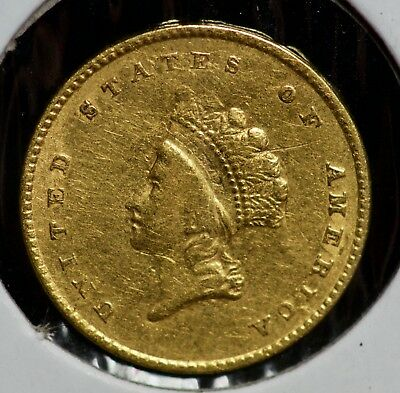 1854 Gold Indian Princess Head One Dollar G$1 Coin