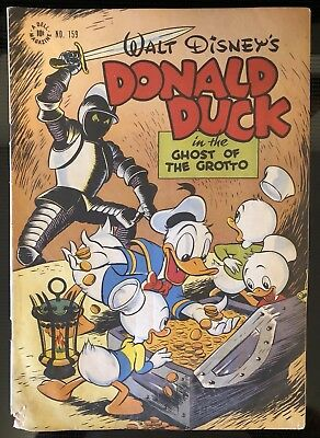 1947 Walt Disney comic DONALD DUCK no. 159 by Carl Barks 10c Ghost of the Grotto