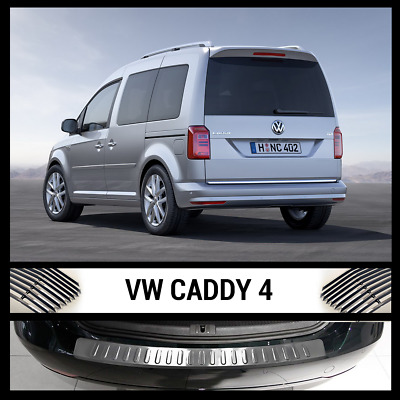 VW CADDY IV Stainless Steel Chrome Rear Bumper Protector 2015> Scratch Guard