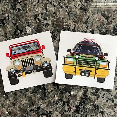 Jurassic Park / World Jeep Wrangler And Ford Explorer Stickers - Set of 2