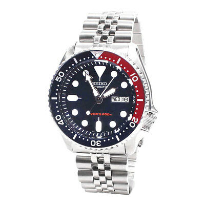 Seiko Automatic Diver's Mens Analog Sport Silver Band SKX009K2
