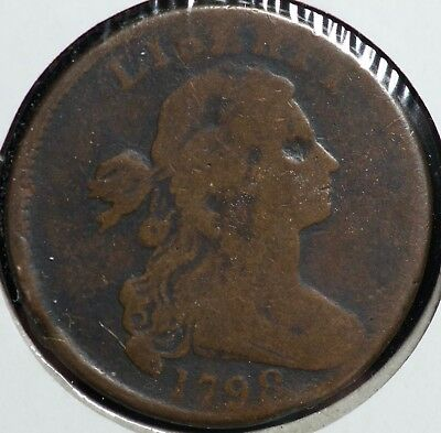 1798 Draped Bust Large One Cent Coin