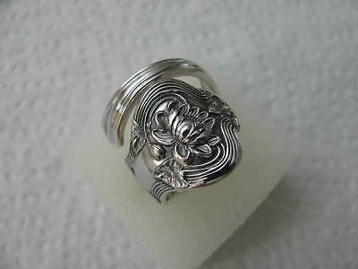 Sterling Silver spoon RING s 8 POND LILY #5684 Jewelry Floral
