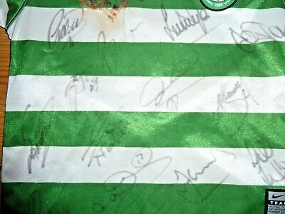 signed CELTIC FC football shirt 2007 Home shirt Autographed x 15 Players