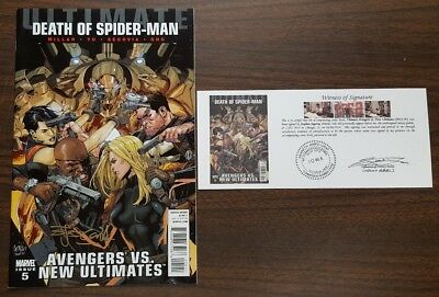 Ultimate Avengers vs New Ultimates #5 signed Stephen Segovia with Notarized WOS