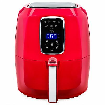 Red 5.5 Quart Large Digital Air Fryer w/ LCD Screen and Non-Stick Coating Sale