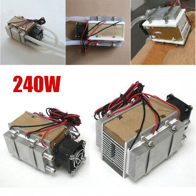 Thermoelectric Peltier Refrigeration System Kit Cooler Fan Water-cooled Device