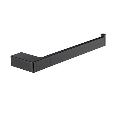 Quaz Square Hand Towel Rail Matt Black Wall Mounted Towel Hanger
