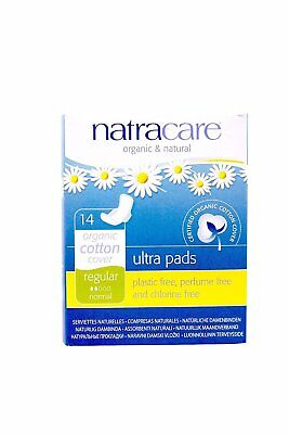 Natracare – Organic Cotton Cover Ultra Pads with Wings - 14 Count (4 Pack)