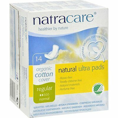 Natracare - Regular Ultra Pads - Organic - 14 Count - Pack of 3