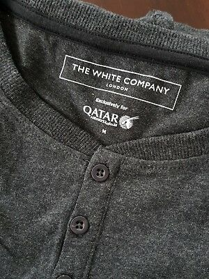 The White Company London/Qatar Airways/ Pyjamas M /PJ's /First Class + Slippers