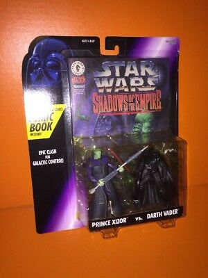 STAR WARS Shadows Of The Empire PRINCE XIZOR vs DARTH VADER & Comic Book KENNER